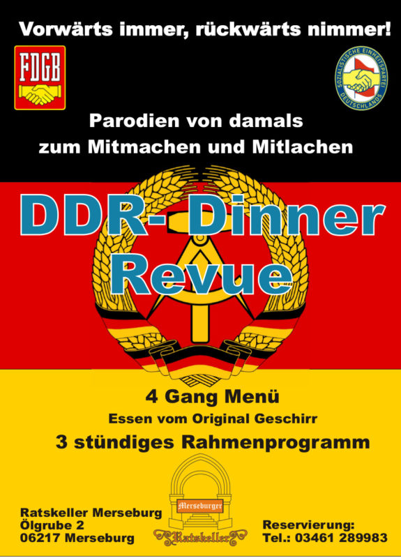Plakat DDR Dinner Revue